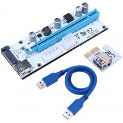 Riser 008s PCIe x1 na x16, USB 3.0 60cm Bel