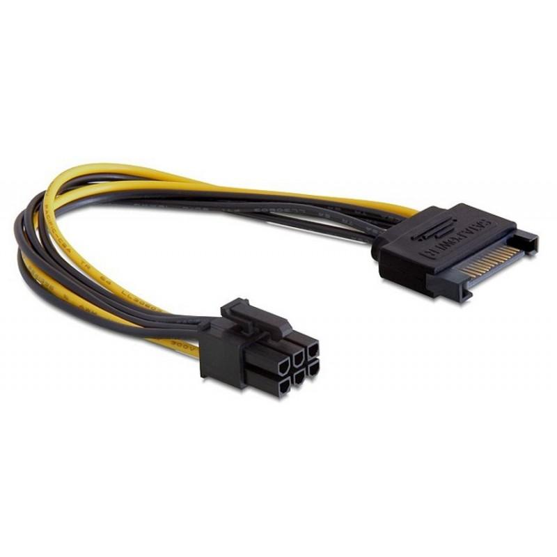 Adapter Serial ATA Ž - 6pin za grafične kartice PCI-express 0,2m Delock