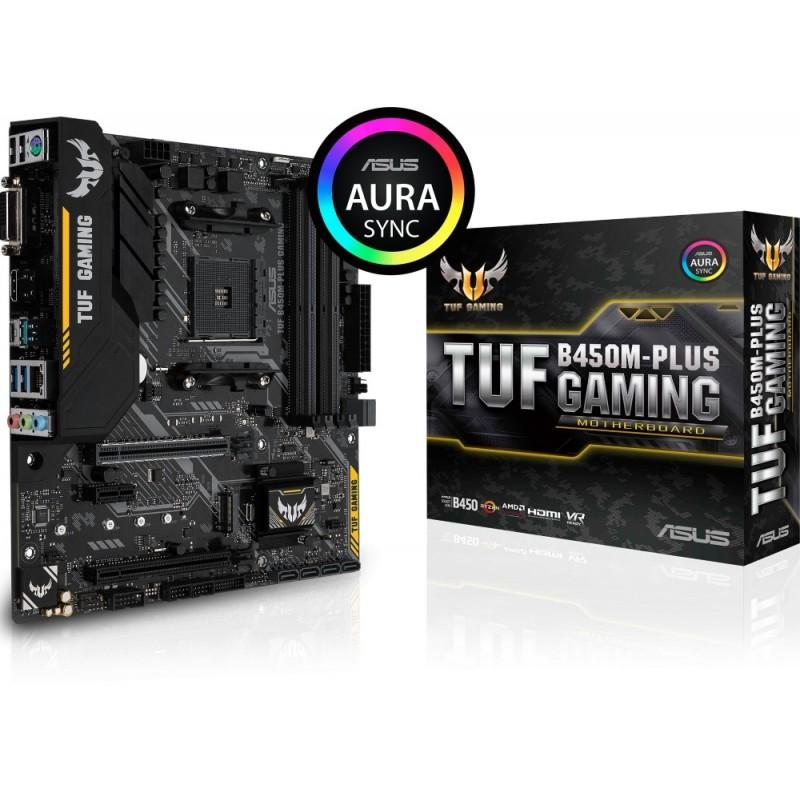 Matična Plošča ASUS TUF B450M-PLUS GAMING DDR4 AM4 ATX