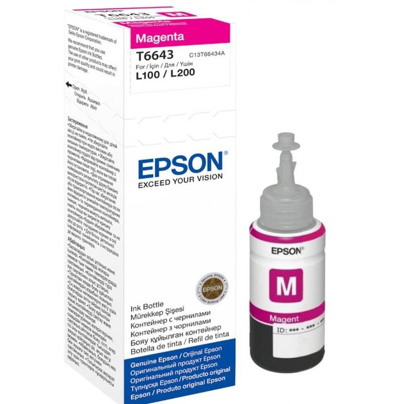 Črnilo Epson Magenta (C13T66434A) steklenička