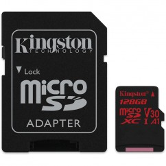 Spominska Kartica microSD KINGSTON Canvas React U3 128GB