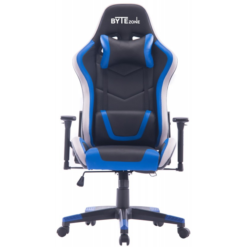 Gamerski stol BYTEZONE Thunder (GC9253-1), Črn/Moder