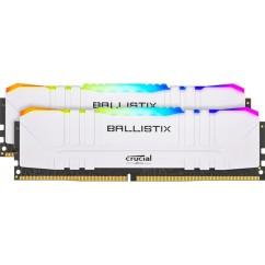 Pomnilnik (RAM) DDR4 CRUCIAL Ballistix White RGB 16GB 3600MHz KIT (BL2K8G36C16U4WL)