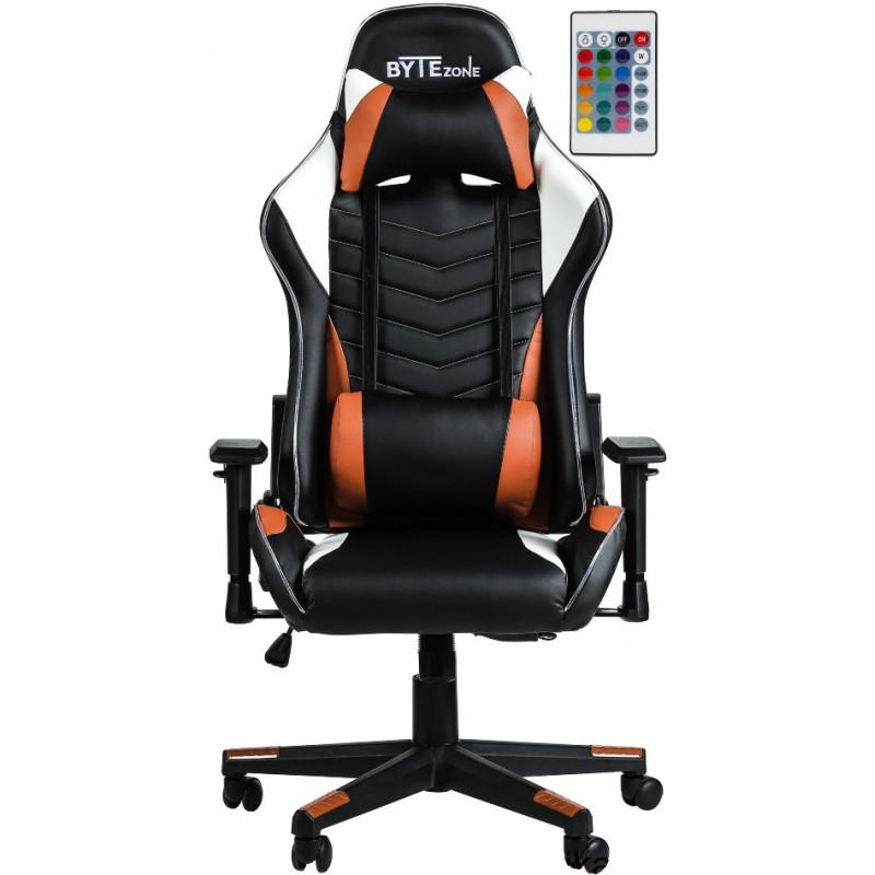 Gamerski stol BYTEZONE Winner LED (GC9222R), Črn/Rdeč