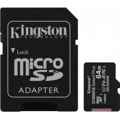 Spominska Kartica microSD KINGSTON Canvas Select Plus C10 64GB