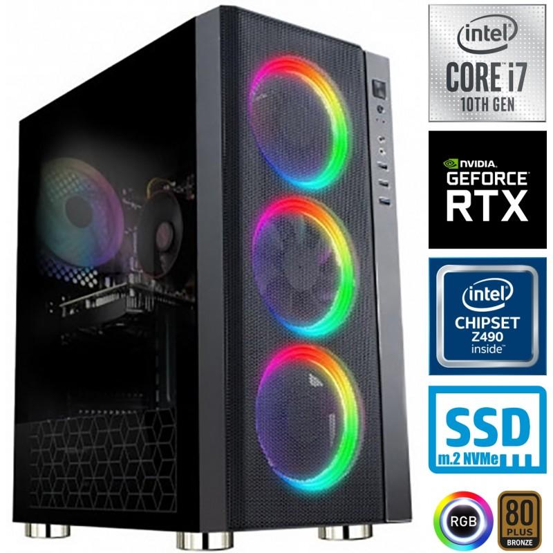 Računalnik MEGA 6000Y i7-10700F 5SSD16 2T RTX 3060Ti RGB