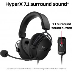 Slušalke Kingston HyperX Cloud Alpha S Pro Gaming, črne (HX-HSCAS-BK/WW)