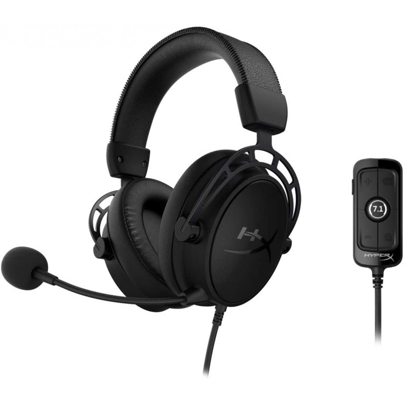 Slušalke Kingston HyperX Cloud Alpha S Pro Gaming, črne (HX-HSCAS-BK/WW)