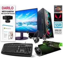 Računalniški komplet MEGA Nazaj v Šolo 5000 Ryzen 5 5600G 10SSD16 VEGA7 24MKS WIN+OFF