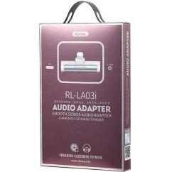 Adapter REMAX audio Lightning, bel (RL-LA03i)